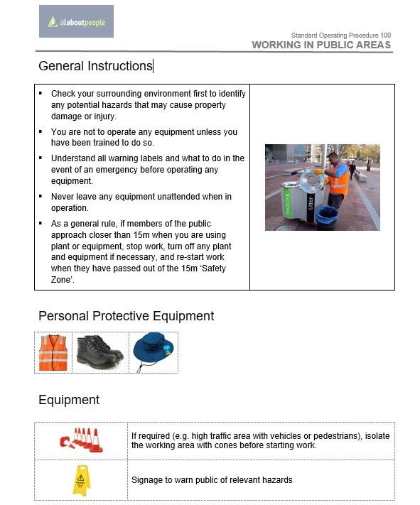 Safe Operating Procedures to order